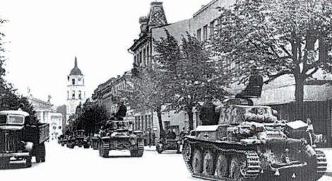 Okupacyjne wojska niemieckie wkraczają do Wilna Fot. archiwum