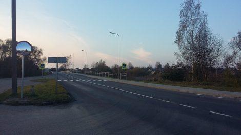 W gminie Mickuny dobiegło końca układanie chodnika na ul. Vilniaus Fot.vrsa.lt