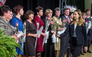 Liczne grono nagrodzonych nauczycieli stanowili matematycy Fot. Marian Paluszkiewicz