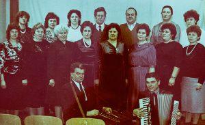 Pierwszy skład zespołu w Centrum Kultury w Rudominie  Fot. archiwum zespołu