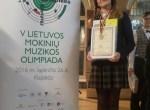Loreta Uzelo na Republikańskiej Olimpiadzie Muzyki reprezentował rejon wileński zdobyła brązowy medal             Fot. archiwum szkoły
