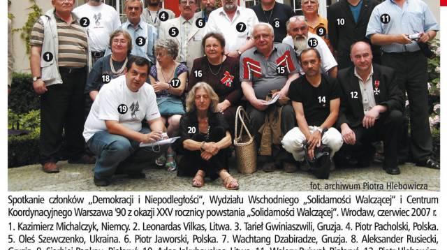 Autonomiczny Wydział Wschodni SW - grupowe zdjęcie uczestników 25 rocznicy powstania SW, Wrocław 2007, fot. archiwum Piotra Hlebowicza