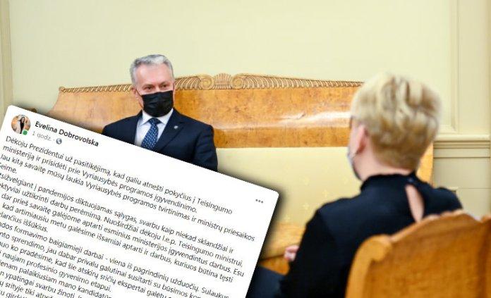 Nausėda odrzucił dwoje kandydatów — nie odrzucił Dobrowolskiej, do wtorku powoła rząd