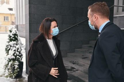 Minister spraw zagranicznych Gabrielius Landsbergis spotkał się z liderką białoruskiej opozycji Swiatłaną Cichanouską