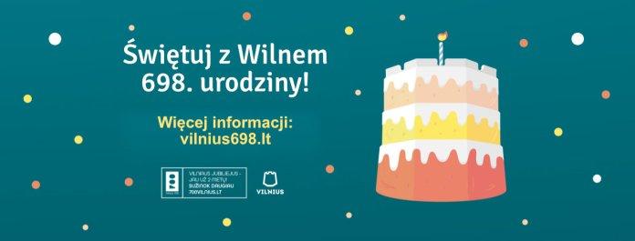 Plakat promujący urodziny miasta.