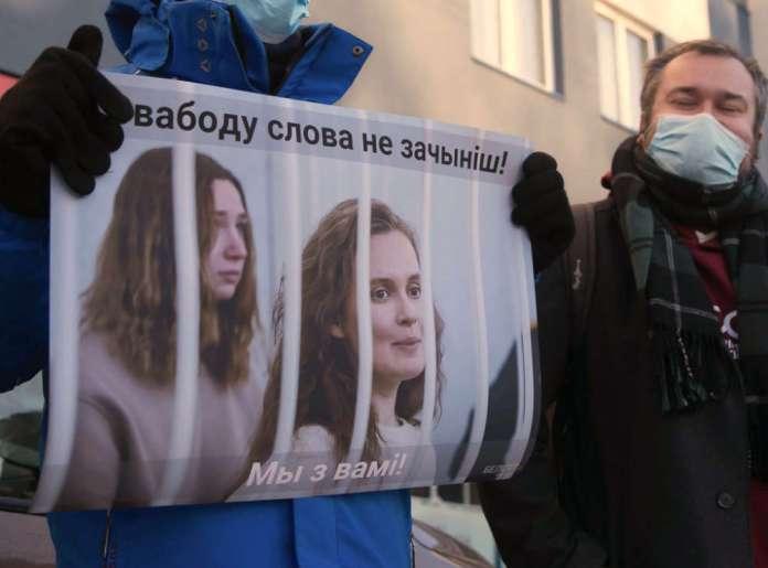 """Przemówienie skazanej dziennikarki Biełsatu. """"Ja nie proszę, ja żądam wolności dla więźniów politycznych"""""""