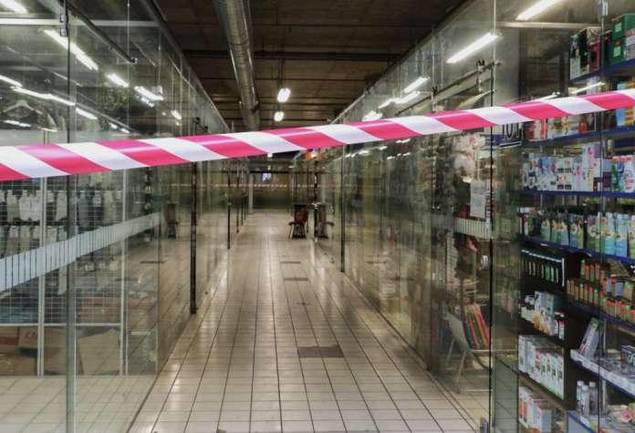 Zamknięty sklep na Litwie