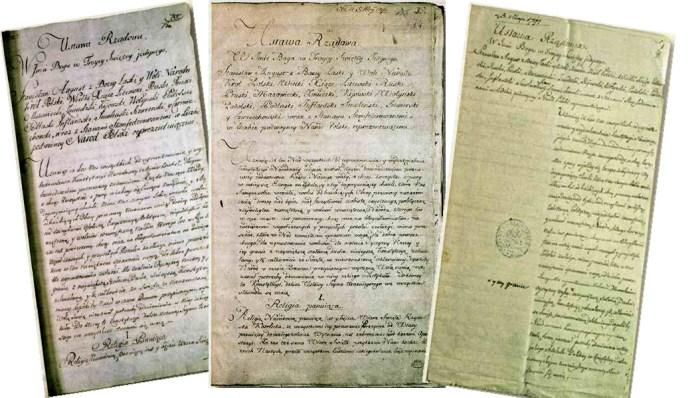 Trzy rękopisy Konstytucji 3 maja