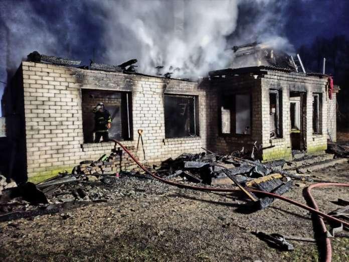 Spalony dom na Litwie