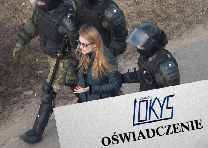 """Oświadczenie Zrzeszenia Wilnian """"Lokys"""" w sprawie prześladowania Polaków na Białorusi"""