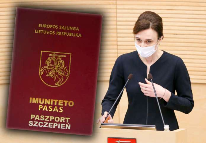 """Čmilytė-Nielsen o paszporcie odporności: """"kryteria muszą być odpowiedzialnie ocenione"""""""