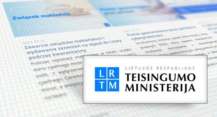 Strona Ministerstwa Sprawiedliwości dostępna także po polsku