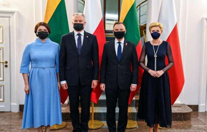 """Nausėda w Polsce: """"jedność Litwinów i Polaków oraz solidarność ważna dla zapewnienia bezpieczeństwa regionu"""""""