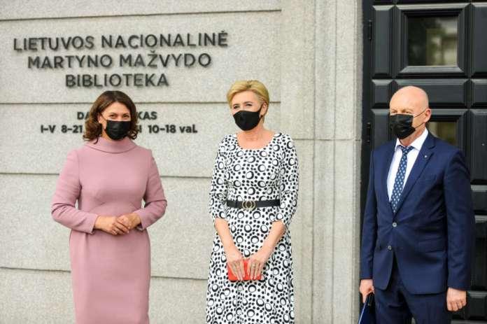Agata Kornhauser-Duda i Diana Nausėdienė spotkały się w Wilnie
