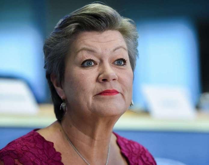 Komisarz UE ds. wewnętrznych Ylva Johansson przyjedzie na Litwę