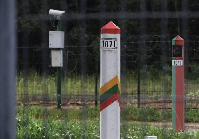 Granica Litwy z Białorusią, słupki graniczne