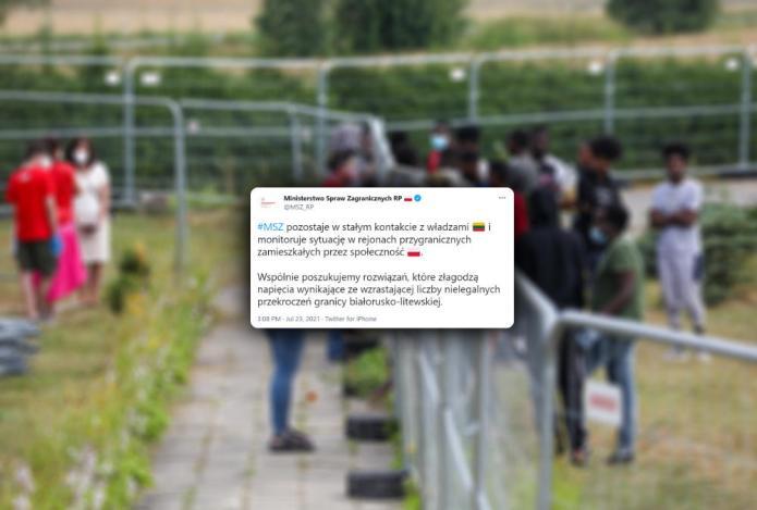 """MSZ Polski o Dziewieniszkach: """"Pozostajemy w kontakcie z Litwą, monitorujemy sytuację"""""""
