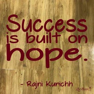 Hope leads to manifestation.
