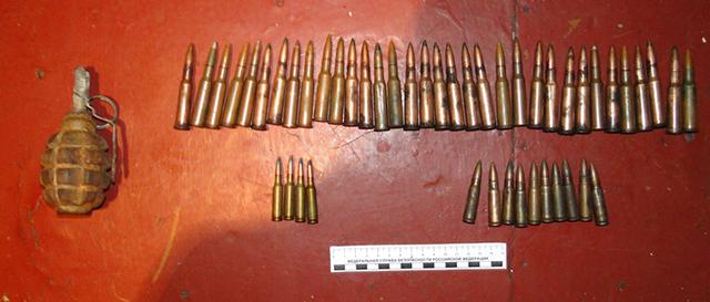 Семья торговца боеприпасами из ЕАО беспечно ходила по огороду, где он спрятал гранату Ф-1 и еще более сотни патронов