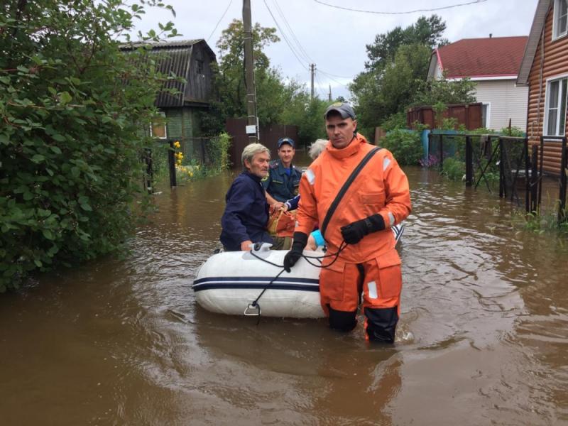 В Смидовичском районе вода за 20 минут затопила дачный посёлок