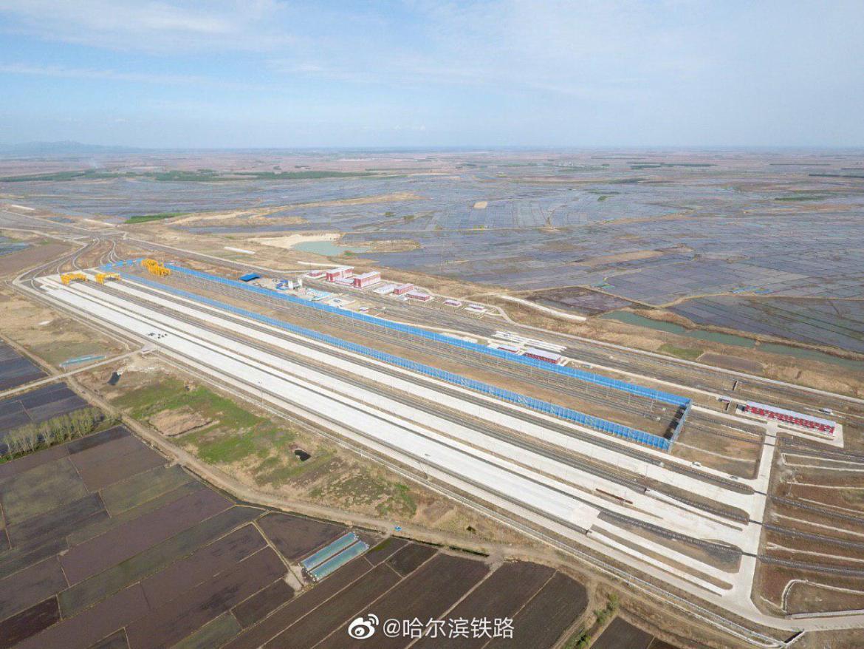 Китайская сторона показала станцию перевалки грузов «Тунцзян-северный» (ФОТО)