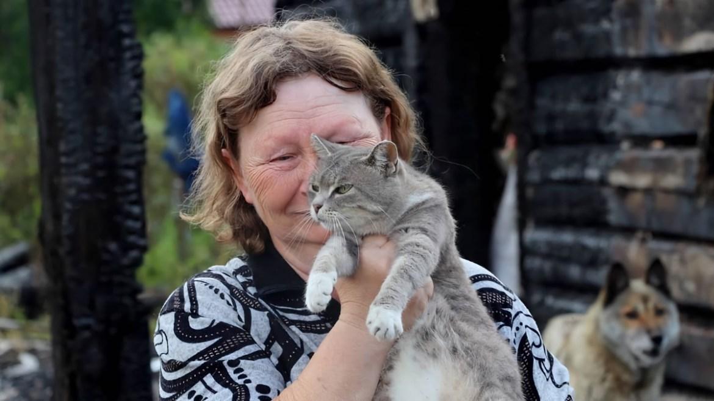 «Если бы не она, мы б все сгорели»:  подробности о том, как в ЕАО кошка спасла семью из горящего дома (ВИДЕО)