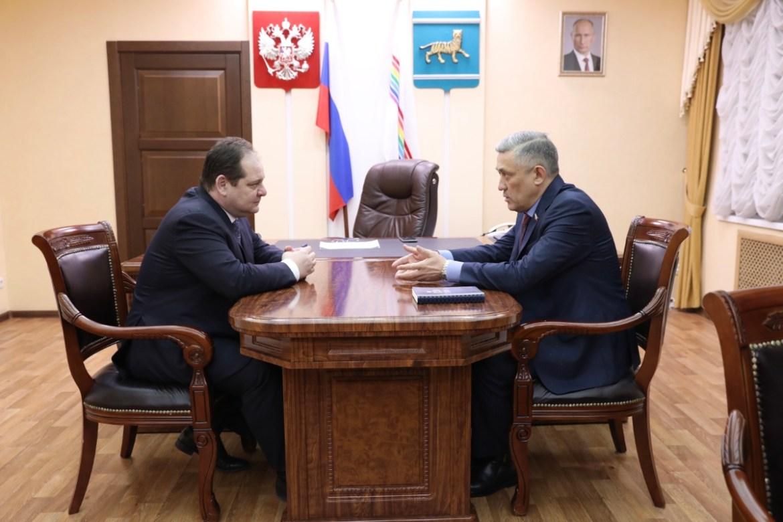 Юрий Валяев впервые посетил ЕАО после назначения сенатором от региона