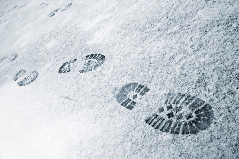 Гигантскую «снежнопись» вытоптали на реке у набережной  в столице ЕАО