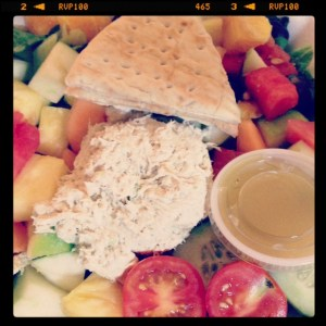 Chicken Salad and Fruit Plate