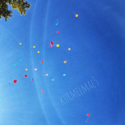 Ballons, Wünsche, Hochzeit
