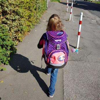 Schultasche, Schulweg