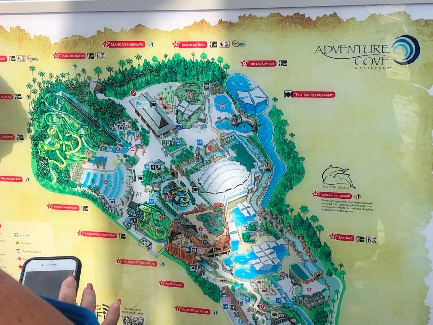 アドベンチャーコーブ・ウォーターパーク 地図