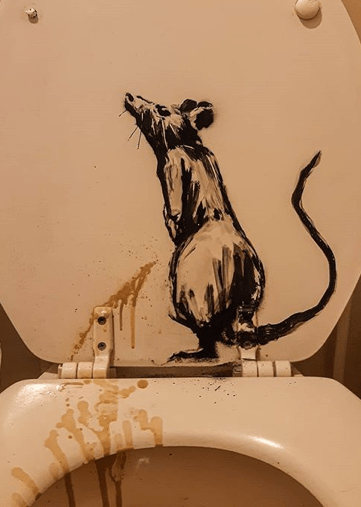 Banksy: Stay Home Rat
