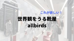 allbirds -機能的にもデザイン的にも普通だけどなぜか履きたくなる靴 (購入レビュー)