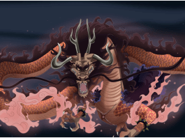 buah iblis milik Kaido tipe Mythical Zoan model ryu (naga)