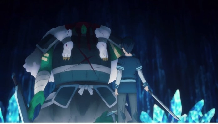 Kirito berhasil mengalahkan Boss Goblin