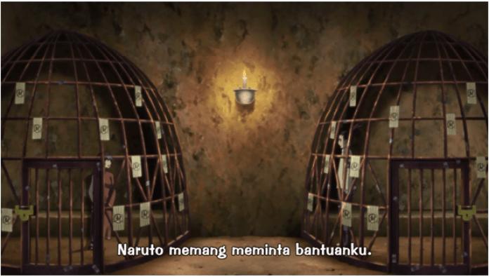 shikadai dan kurotsuchi dalam sebuah sel yang bersebelahan