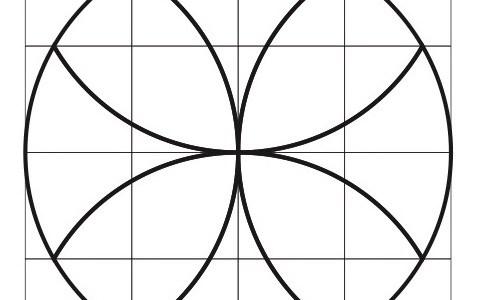 3年算数「円」の授業で使える、複雑な模様のプリント