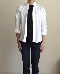 インナーに黒Tシャツを使う