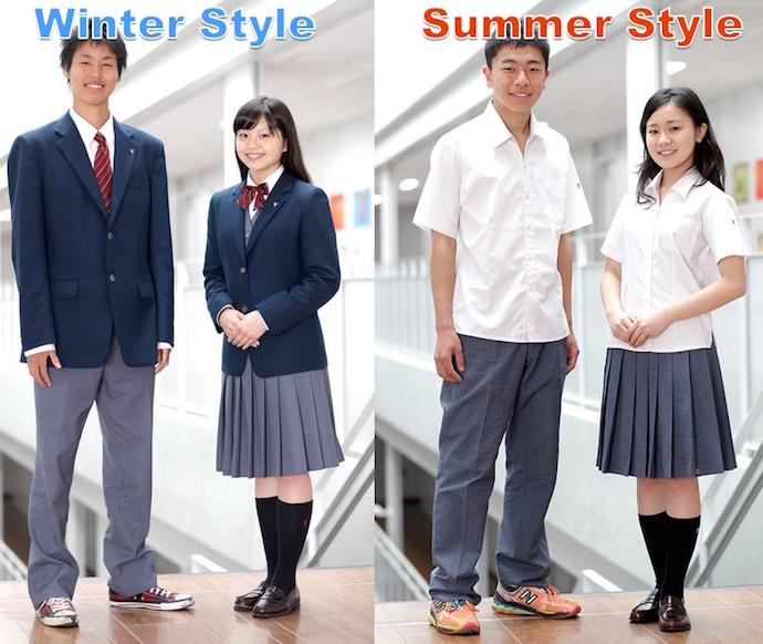 Japanese High School Uniforms in Winter and Summer