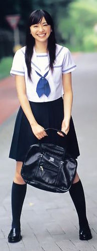 The stereotypical Japanese school girl uniform