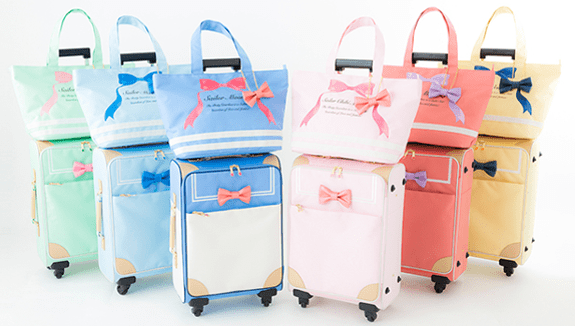 Don't you want Sailor Moon luggage?