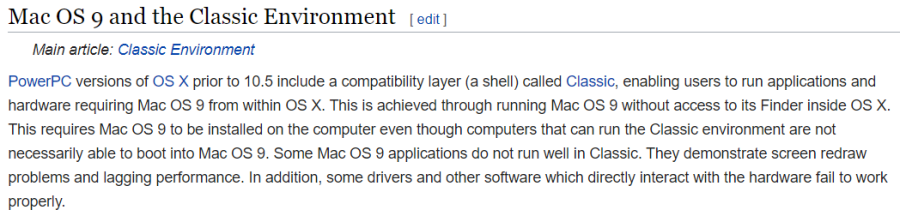 A screenshot of an article from Wikipedia