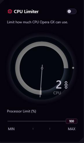 Screenshot of the CPU Limiter