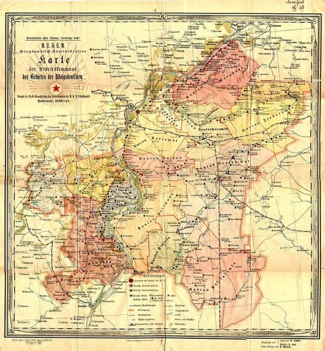 Карта немцев Поволжья 1922 год