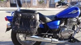 alforjas motos con flecos kursport