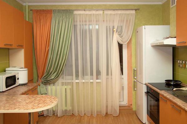 Дизайн штор для кухни: кухонные занавески, тюль, изделия ...