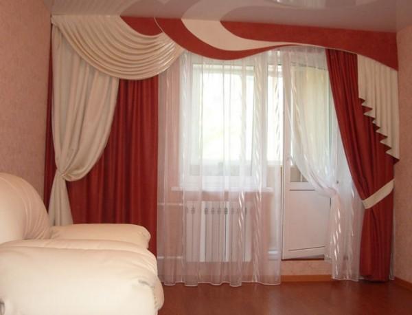 Дизайн штор для зала: кисея, изделия в стиле модерн и ...