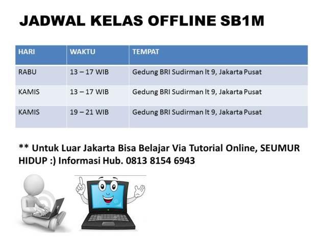jadwal kelas offline sb1m sudirman jakarta
