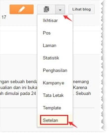 setting feed di blog